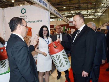 Президент Азербайджана Ильхам Алиев принял участие в открытии выставки  Caspian Oil & Gas-2016/обновлено: фото/