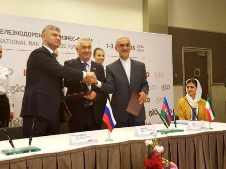Азербайджан, Россия и Иран подписали протокол о расширении коридора Север-Юг