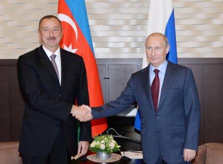 Президент Азербайджана Ильхам Алиев направил поздравительное послание Президенту России Владимиру Путину