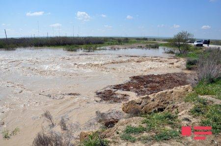 Стихийное бедствие в Исмаиллинском районе: паводковые воды затопили более 10 сел