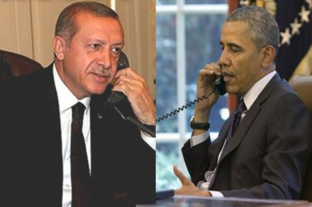 Обама обсудил с Эрдоганом по телефону нормализацию отношений Турции с Россией